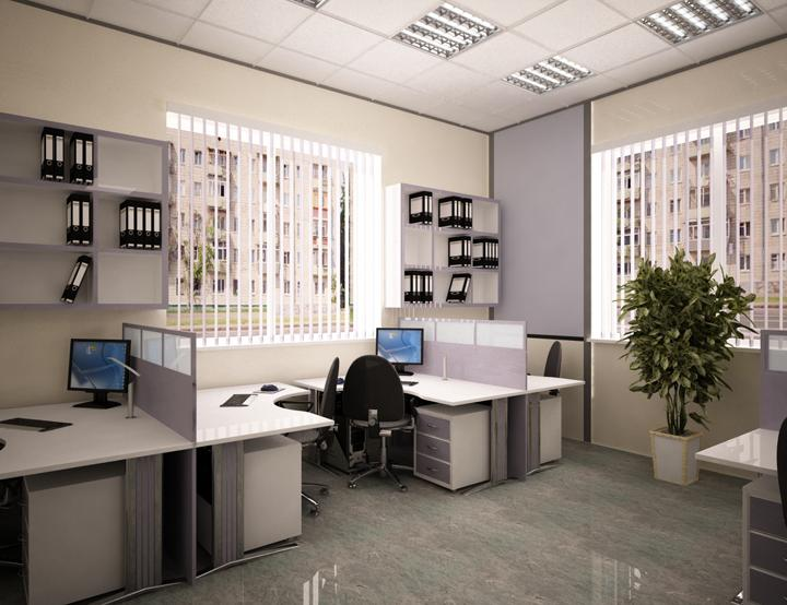 дизайн небольшого офиса